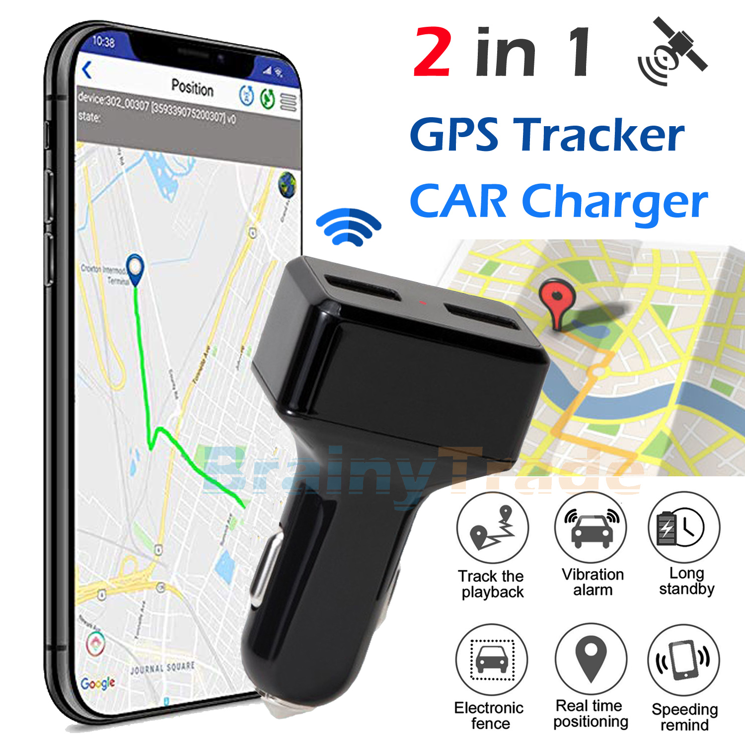 Vehicle Tracking Device >> Details About Real Time Vehicle Tracking Device Car Gps Tracker Usb Charger With Live Audio