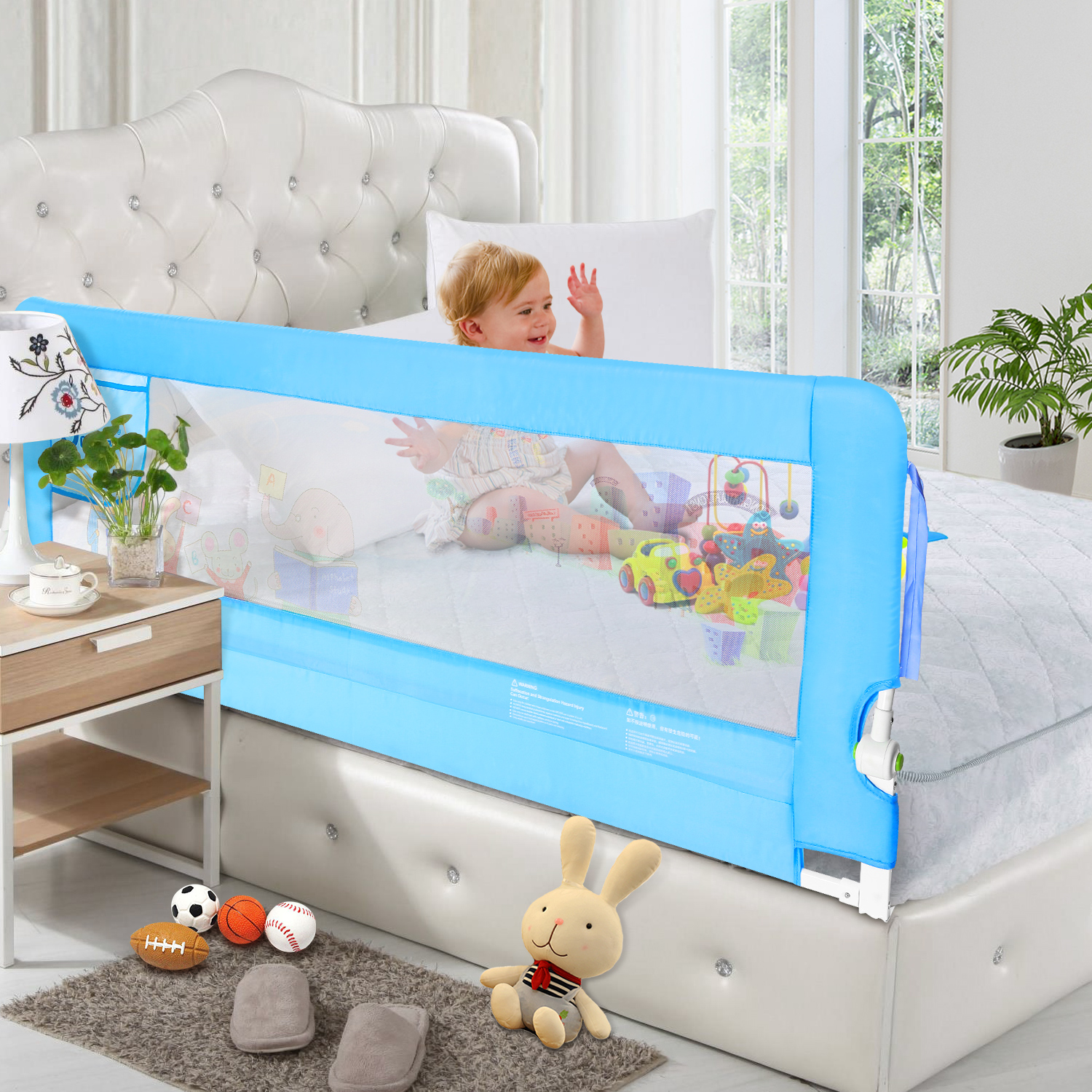 NEW 150cm Blue Baby Child Toddler Bed Rail Safety Protection Guard